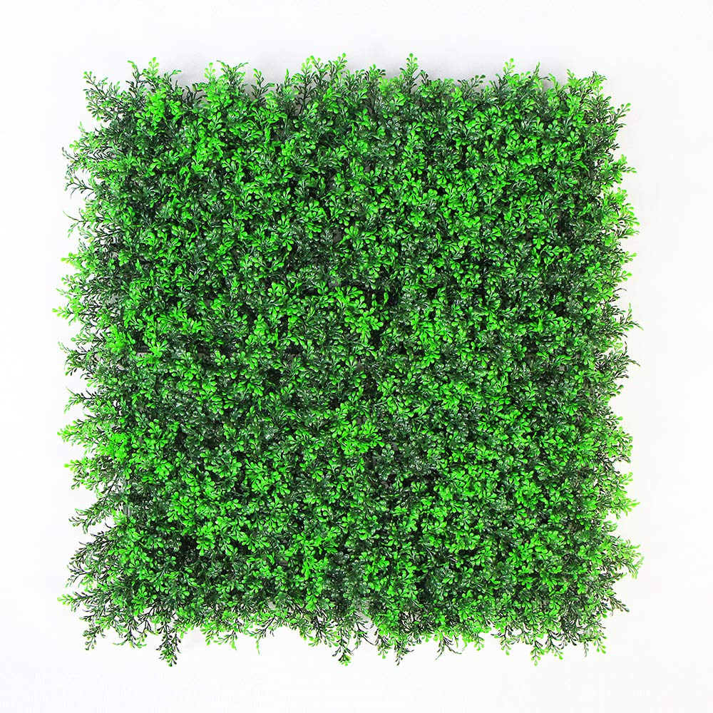 ULAND Artificial Hedges Panels, Boxwood Greenery Ivy Privacy Fence Screening Cover, Home Garden Outdoor Wall Decoration, Pack of 20 X20 by ULAND