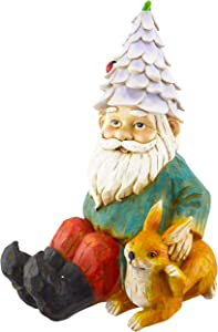 Red Carpet Studios 20508 Hand-Painted Sculpted Garden Gnome, Multicolor