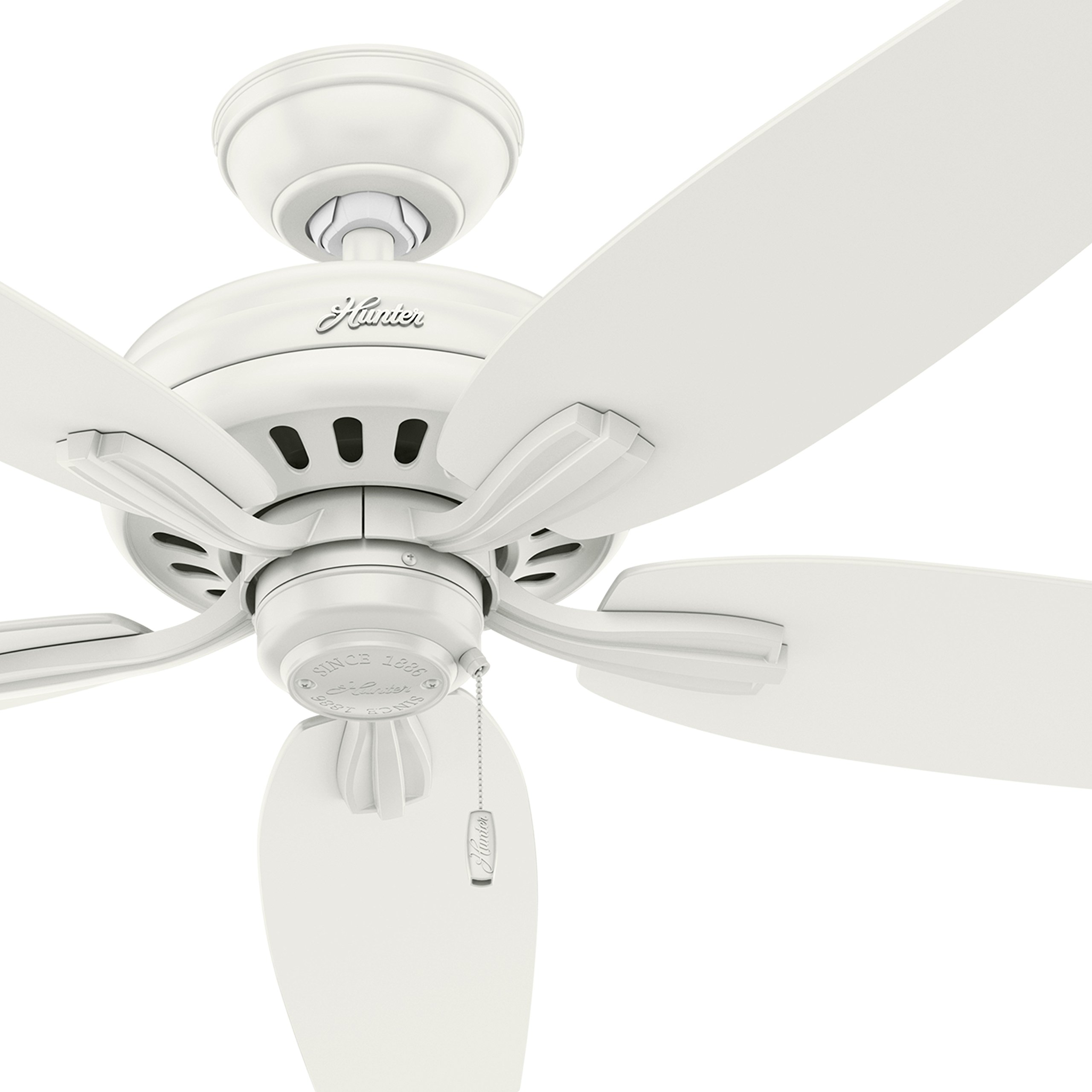 Hunter Fan 52'' Outdoor Ceiling Fan in Fresh White - Damp Rated (Certified Refurbished)