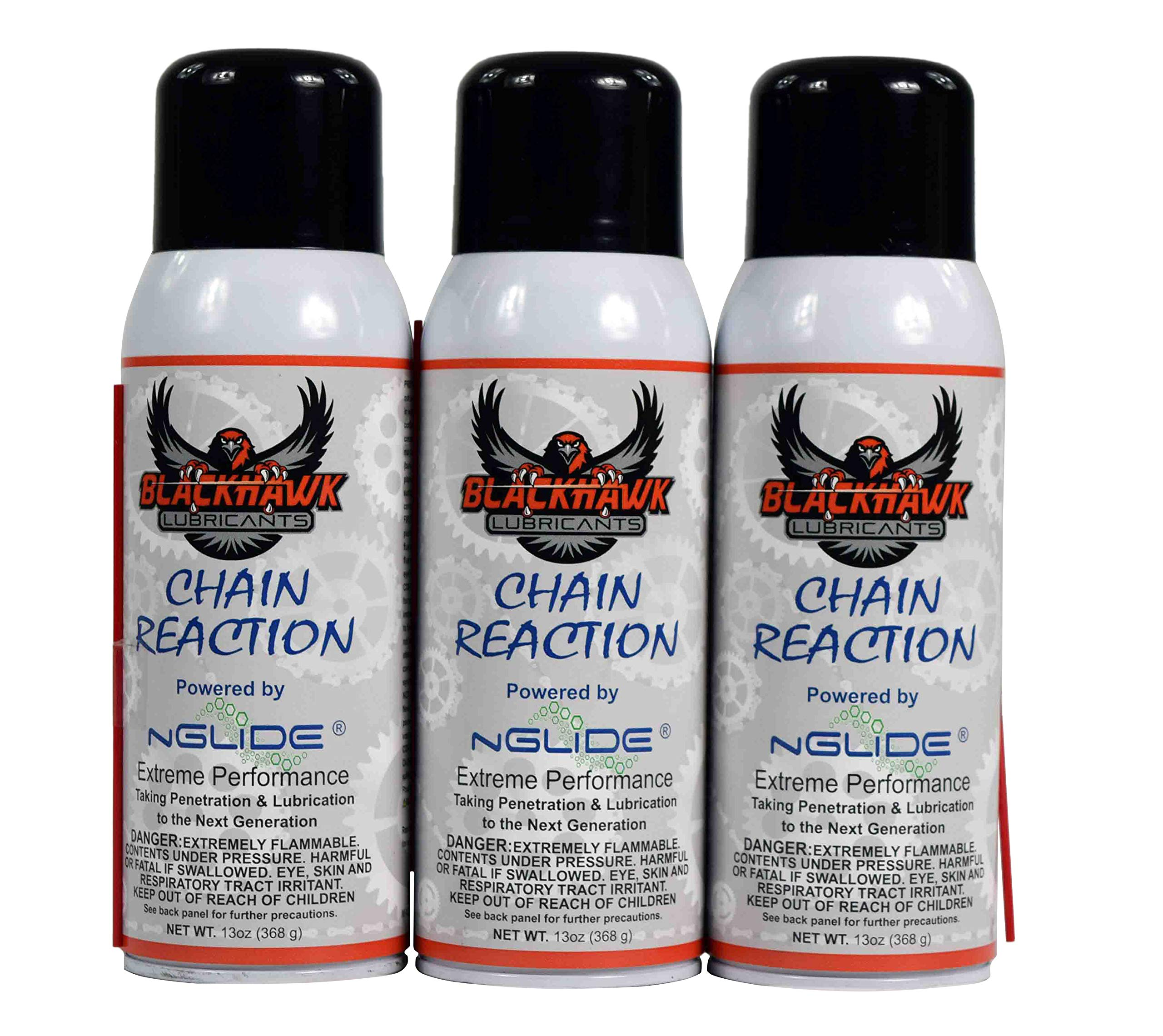Blackhawk Lubricants CR13A Chain Reaction Penetrating Chain Lube Dirt Resistant Pack (3) by Blackhawk Lubricants