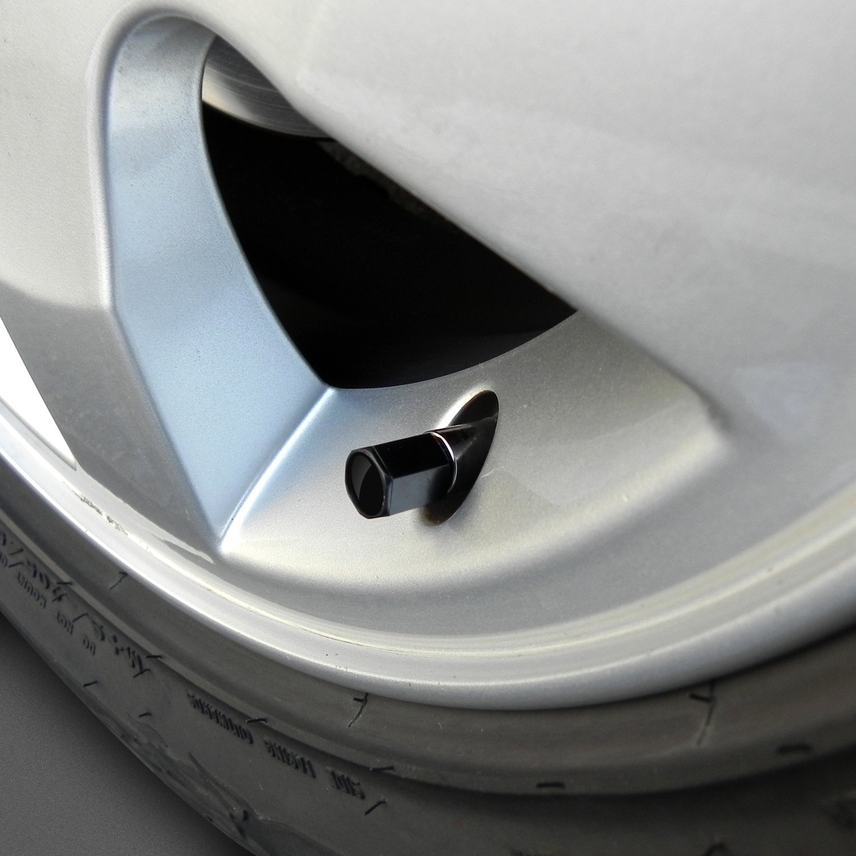 Camaro SS Logo Black Tire Stem Valve Caps