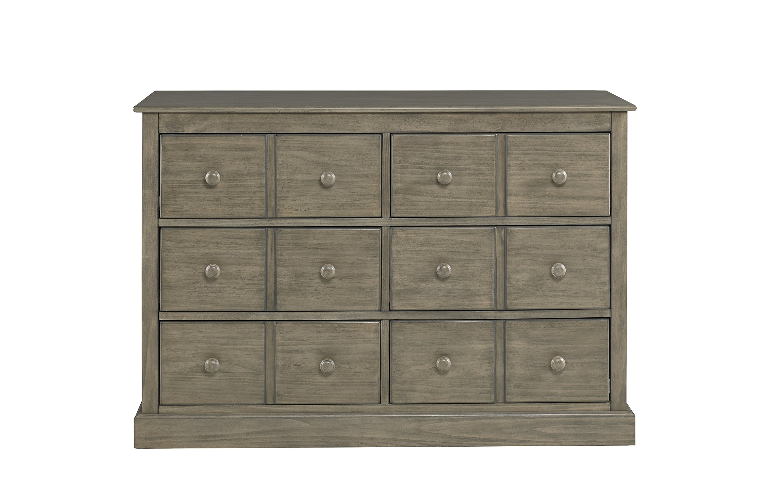 Fisher-Price Signature 6 Drawer Double Dresser, Vintage Grey by Fisher-Price