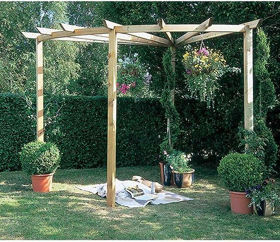 Madera Pergola Radial 90 ° estructura de jardín al aire libre ...