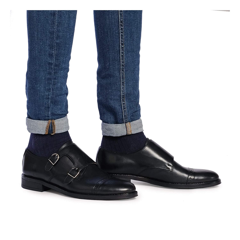 Castellanisimos Zapato Monk Negro Hombre