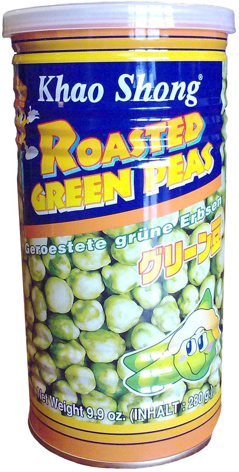 Khao Shong Snack Cracker Roasted Green Peas, 280-Grams (Pack of 4)