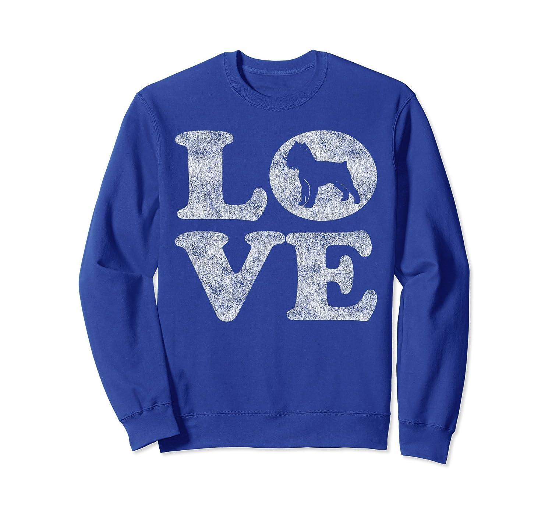 Retro I Love My Brussels Griffon Sweatshirt-AZP