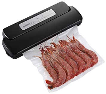 geryon vacuum sealer machine compact automatic vacuum sealing system with starter pack of saver roll