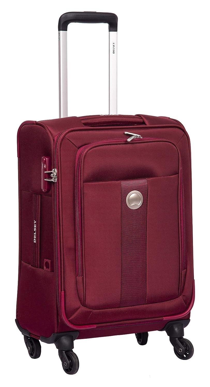 Delsey Lautaret Polyester 56 Cm 4 Wheels Burgundy Cabin Soft Suitcase