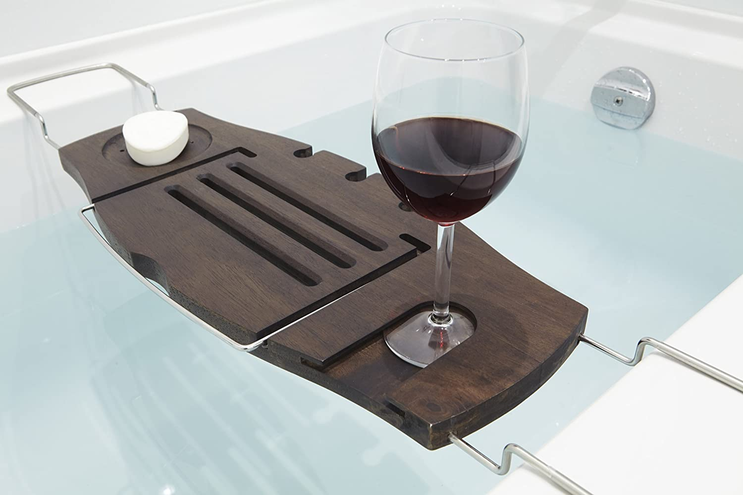 Amazon.com: Umbra Aquala Bathtub Caddy, Walnut: Home & Kitchen