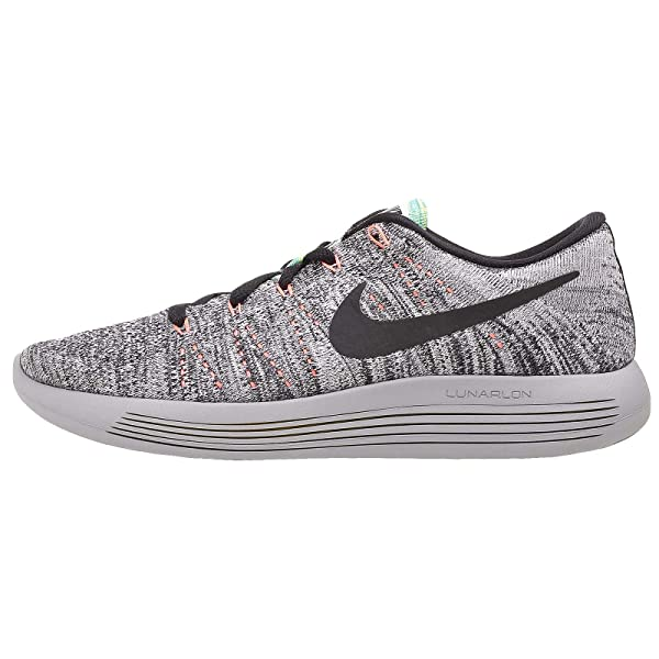 1d466f74a3815 ... coupon for amazon nike lunarepic low flyknit running shoes white black  bright mango gamma blue 9.5