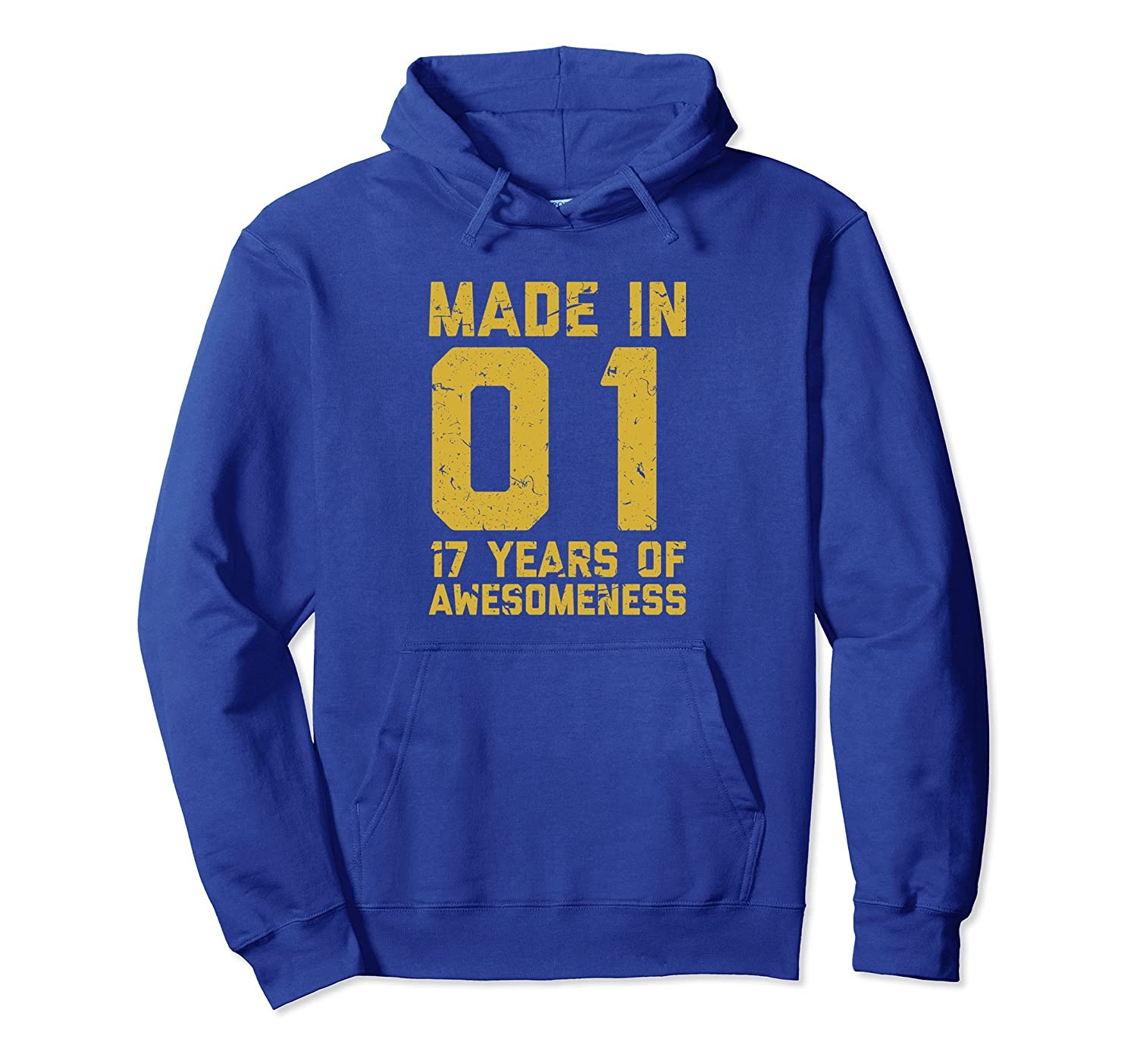 17th Birthday Hoodie Gift Boy Girl 17 Year Old