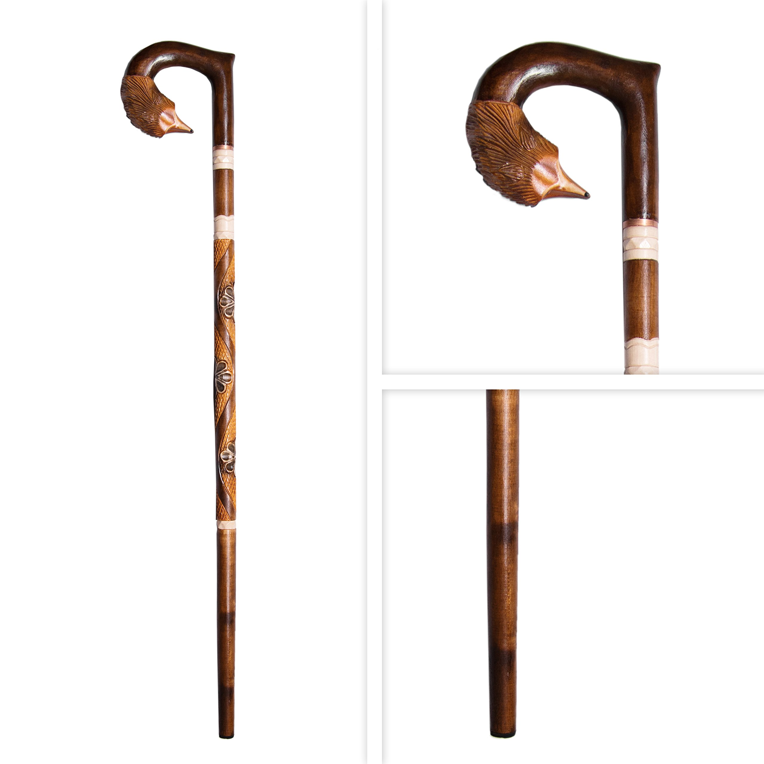 Wooden Walking Stick For Women New Stick for Men - Wooden Walking Cane Hand Carved Womens Walking Stick 35 - 36 Inches - Fashionable Sturdy (Wood) by Wooden Look