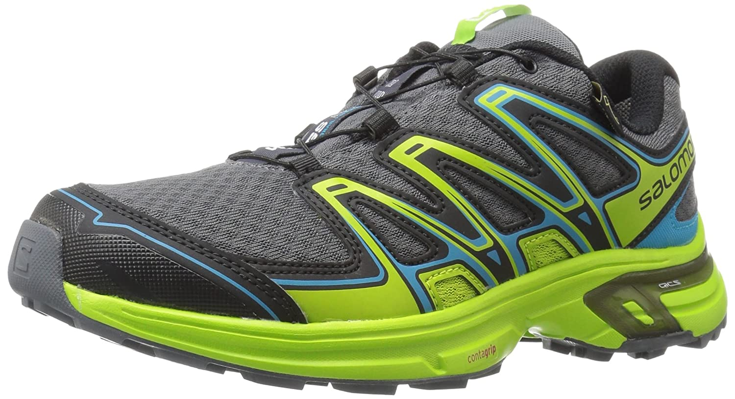 Salomon L39030300, Zapatillas de Trail Running para Hombre 42 EU|Gris (Dark Cloud / Granny Green / Scuba Blue)