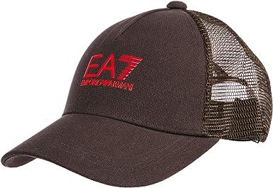 Emporio Armani EA7 Gorra de Beisbol Hombre Espresso: Amazon.es ...