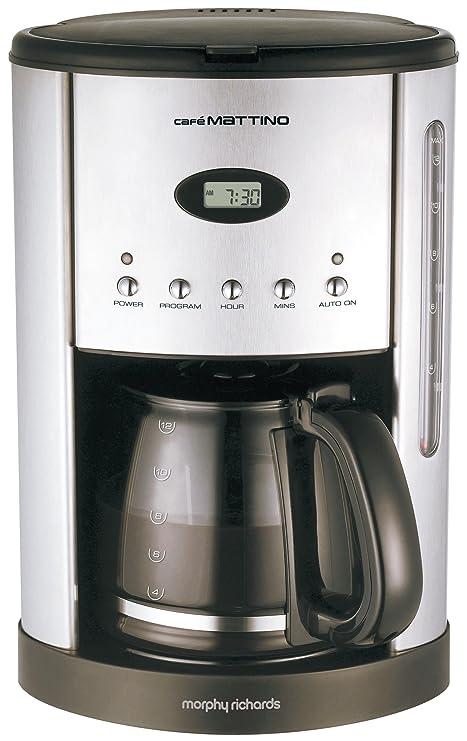 Jarro Morphy Richards Cafe Mattino máquina de café de filtro / vidrio / 12 tazas por