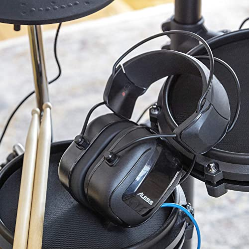 Alesis Drp100 Headphones on the throne