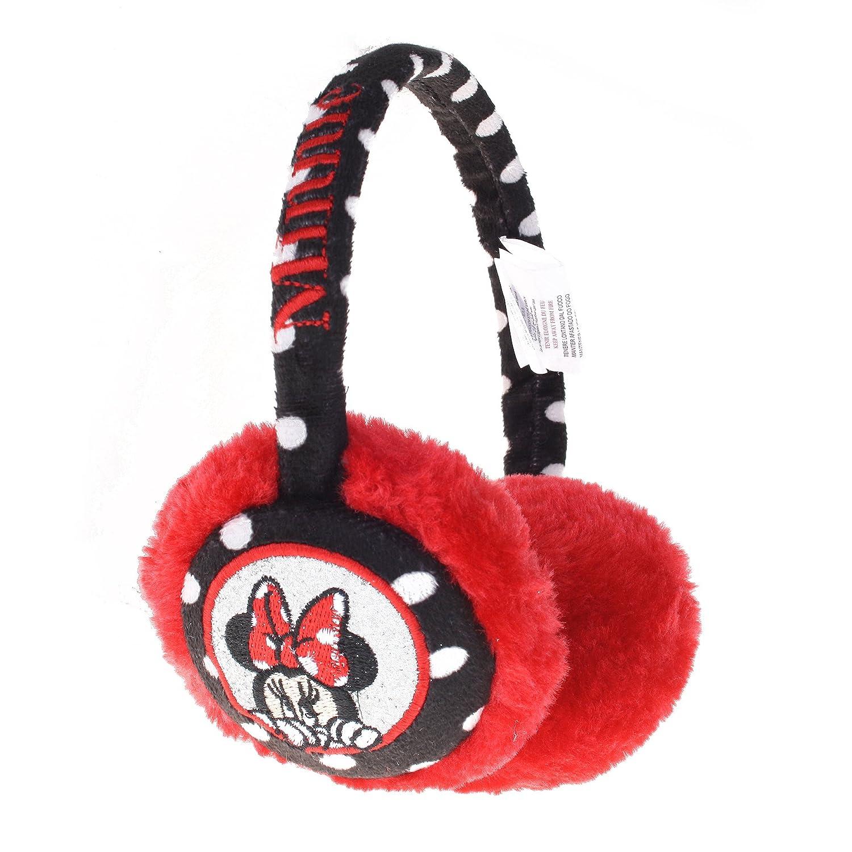 Disney Polka Dot, Orejeras para Niñas Negro (Black/Red) Talla única RFKEM900