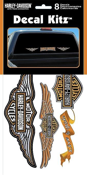 Amazon com chroma graphics 3900 harley davidson vinyl decal kit 8piece automotive