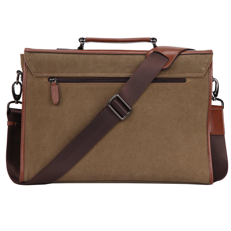 Banuce 13.3 inch Laptop Messenger Bag for Men Vintage Canvas Tote Briefcase Satchel Shoulder Bag by Banuce (Image #2)