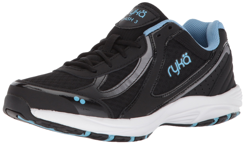 Ryka Women's Dash 3 Walking Shoe, Black/Meteorite/Nc Blue, 9 M US