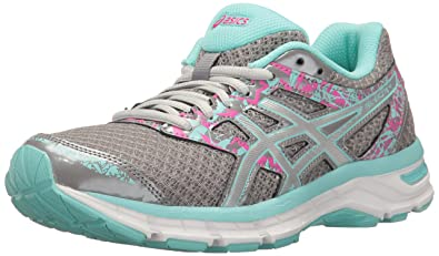 0ab20ea51daf3c ASICS Gel-Excite 4 Women's Running Shoe, Aluminum/Silver/Aqua Splash,