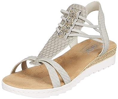 19c6fff0d45 Rieker Women's 63029-42 Closed Toe Sandals Grey: Amazon.co.uk: Shoes ...
