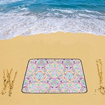 Amazon.com : Waterproof Sandless Beach Mat Picnic Blanket Outdoor Camping Mat Pattern Art Beach Blanket 78 x 60 Inch : Patio, Lawn & Garden