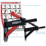 POWRX Barra Trazioni Muro DELUXE + PDF workout con 20 esercizi (Nero)
