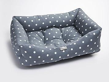 Chilli® - Cama de perro lavable con diseño de lunares, color mediano: Amazon.es: Productos para mascotas