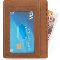 APRICOCO Minimalist Credit Card Holder RFID Blocking Slim Wallet with Multiple Slots for Credit Cards and Cash