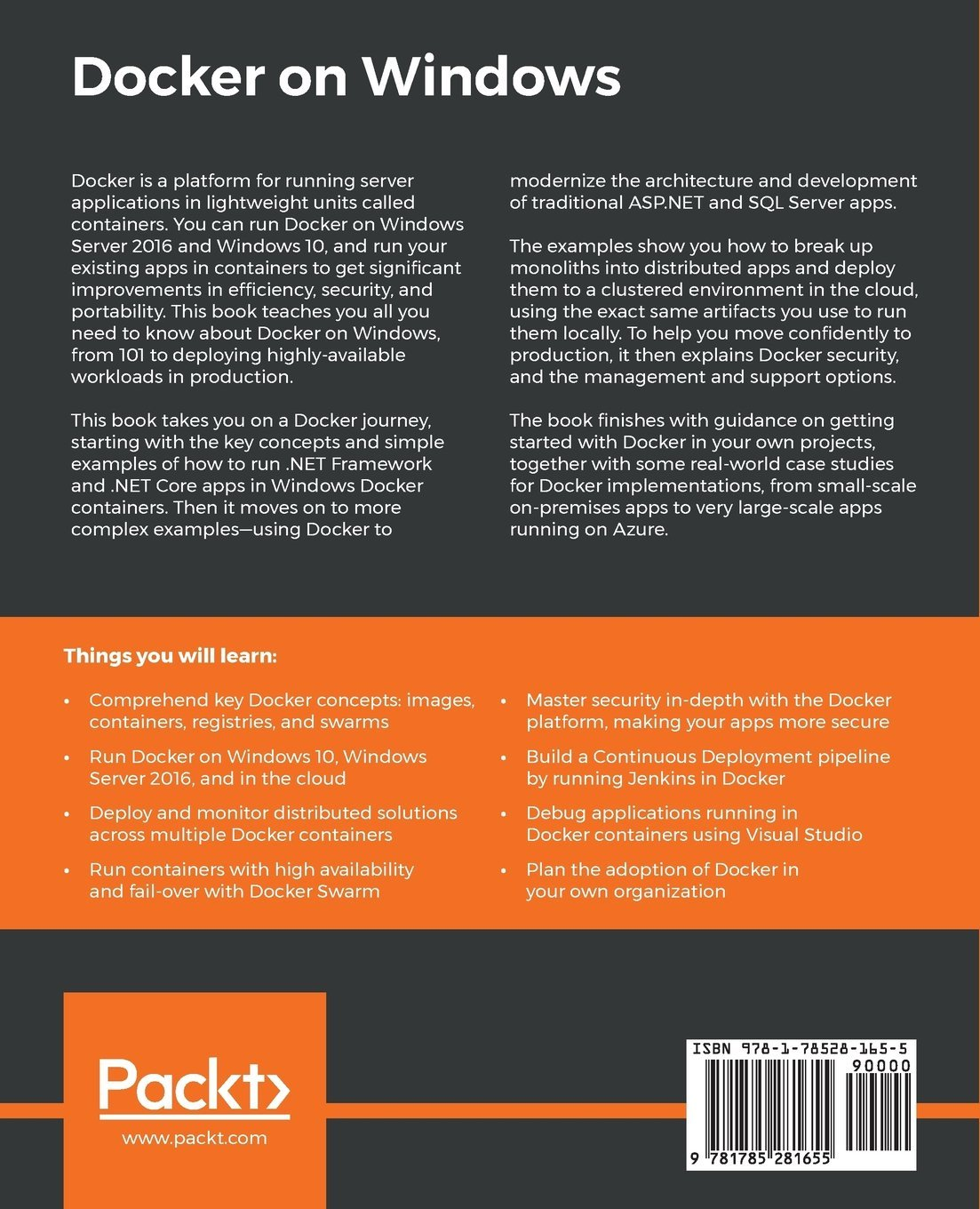 Amazon com: Docker on Windows: From 101 to production with Docker on