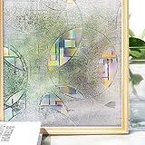 マドピタシート ガラスフィルム 防寒 結露防止 断熱 遮光 めかくし シート シール テープ 貼ってはがせる 窓に貼る目隠し 窓 すりガラス 網ガラスも適用(氷面鏡 90 * 200cm)