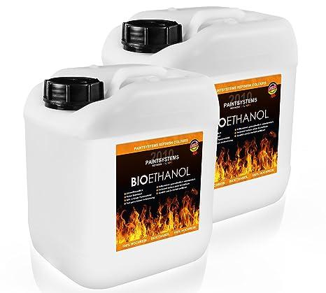 Alcohol biológico 96,6%, 2 x 5 l, etanol,