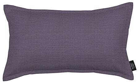McAlister Textiles Savannah Filled Pillow Plum Purple Decorative Solid Color Throw Scatter Sofa Cushion Sham Size – 24 x 16 Inches