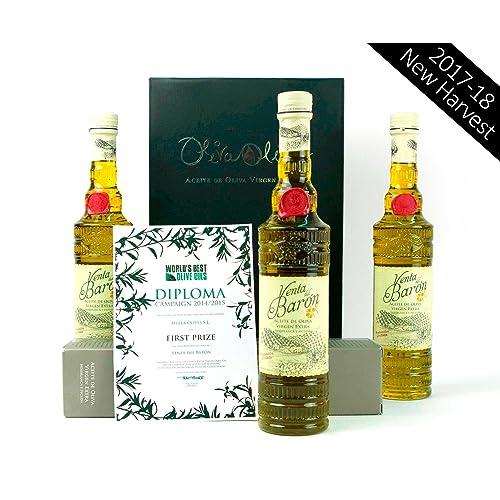 3 x Venta del Barón - Aceite de Oliva Virgen Extra Variedad Hojiblanca y Picual -