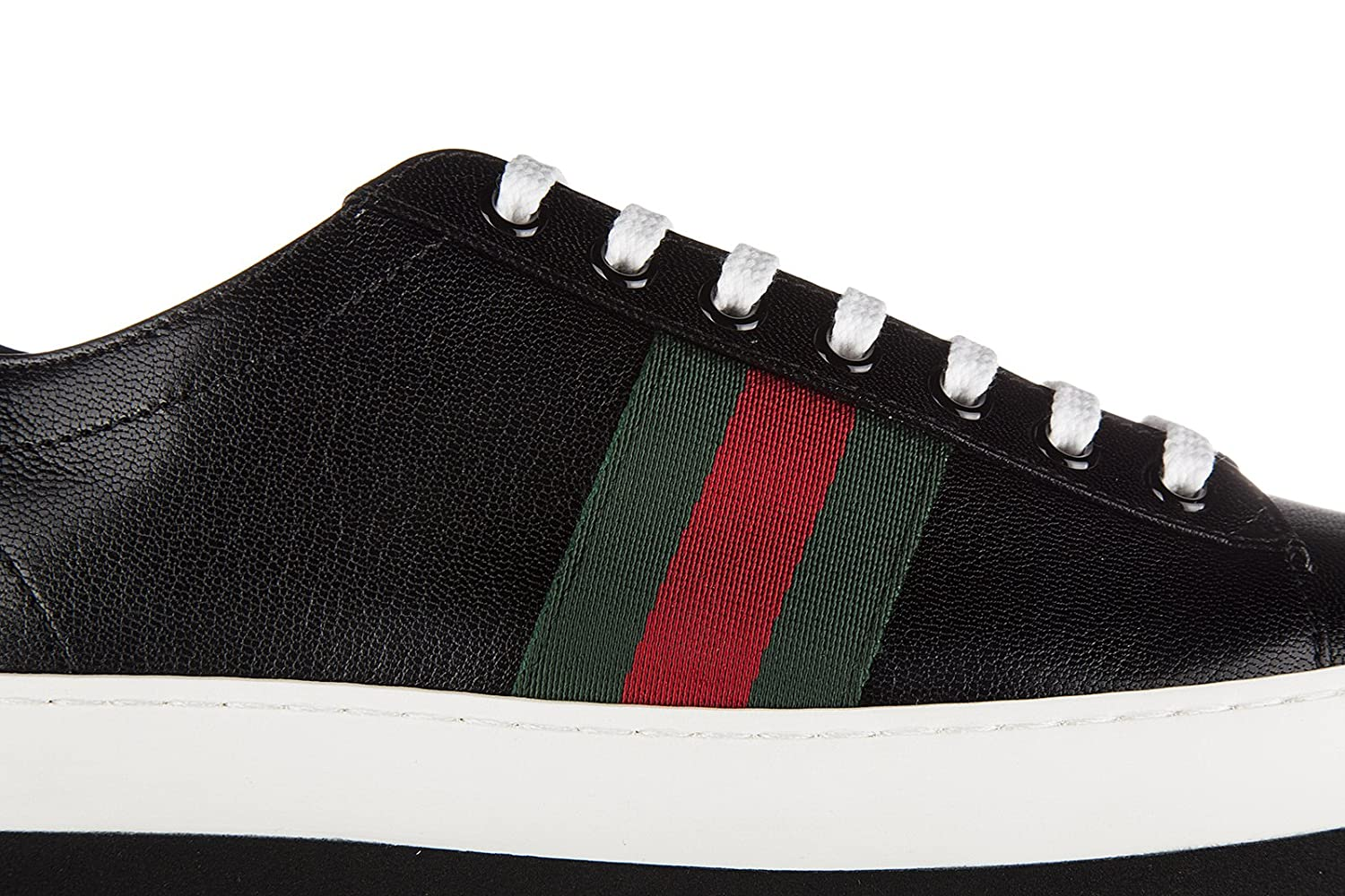 cef5aad0b84 Gucci Women s Shoes Leather Trainers Sneakers Quentin Plateau Black UK Size  4 452312 D3VN0 1060  Amazon.co.uk  Shoes   Bags