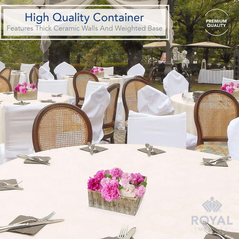 Amazon.com: Royal Imports - Jarrón decorativo de cerámica ...