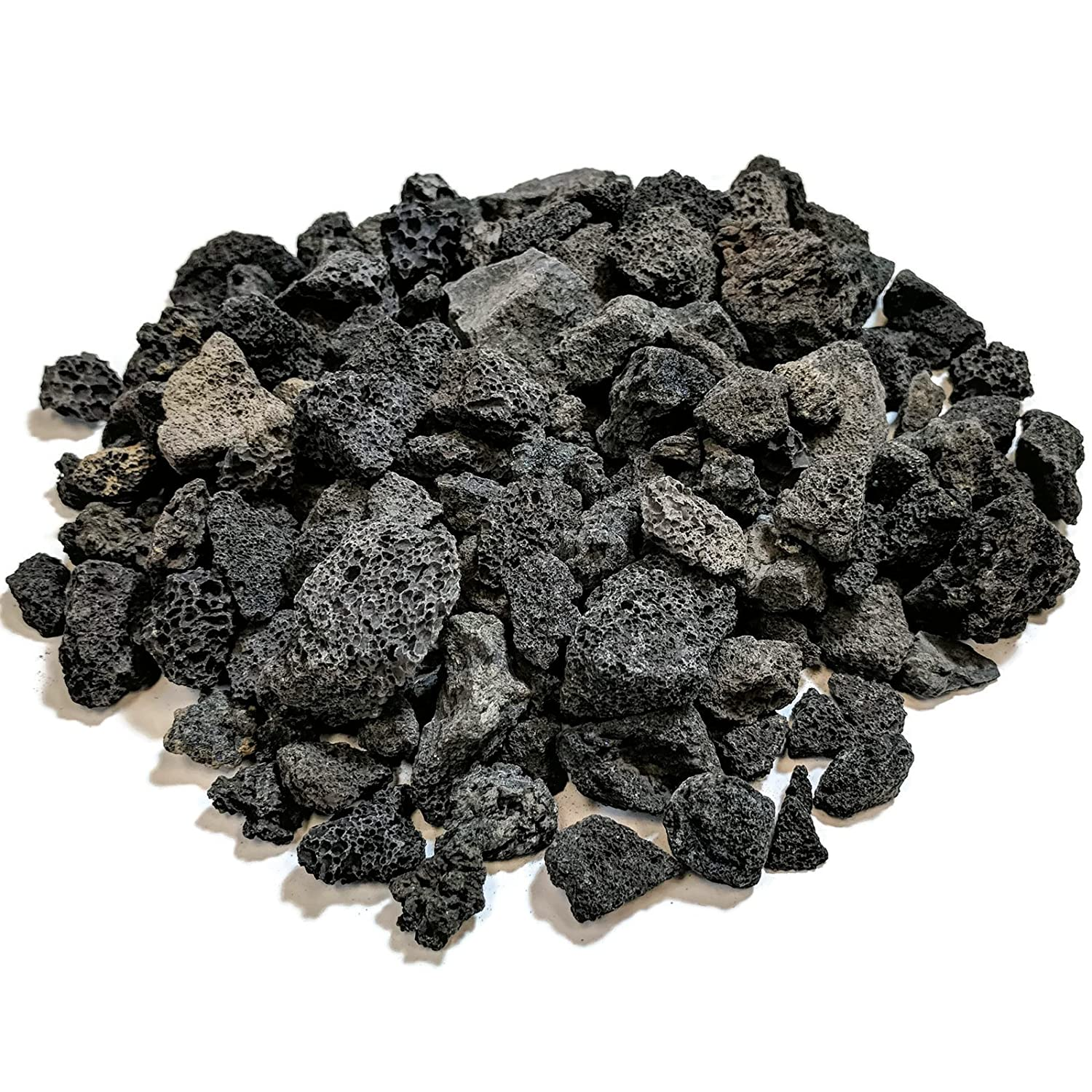 """Midwest Hearth Lava Rock for Fire Pits and Gas Log Sets, Black 1/2"""" to 1"""" (10-lb Bag)"""