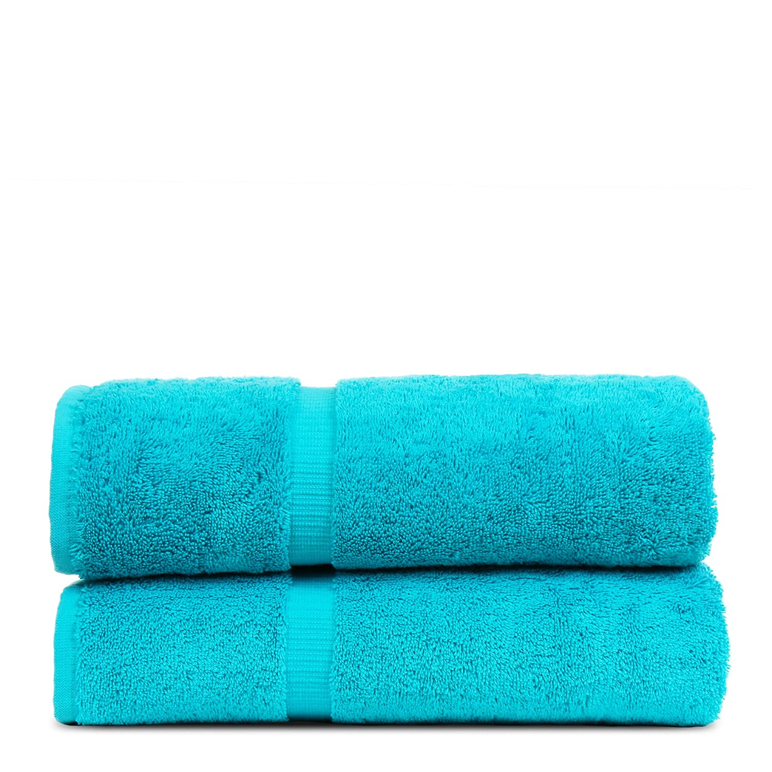 Luxury Hotel & Spa Towel Turkish Cotton Bath Towels - Cranberry - Dobby Border - Set of 2 Bare Cotton 852-114-02