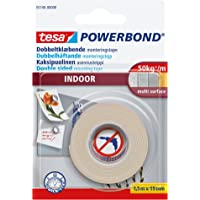 tesa Powerbond Foam Double Sided Mounting Tape for Indoor Use, 1.5 m x 19 mm