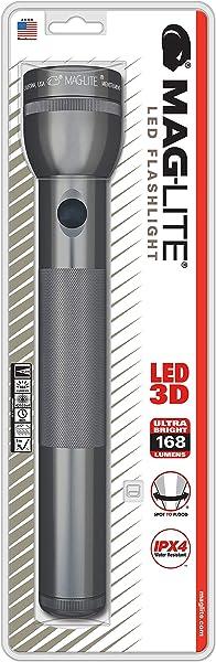 MAG-LITE(マグライト) 3Dセル(単1電池3本) LED フラッシュライト グレー 単1電池×3本 ST3D096