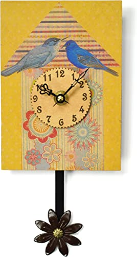Duane Scherer Blue Birds Sweet Petite Wall Clock
