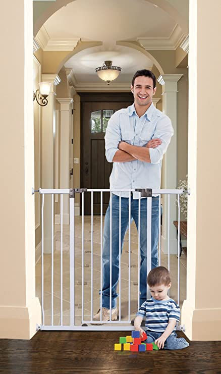 blanco Dreambaby Liberty alto 9 cm de ancho de la puerta extensión