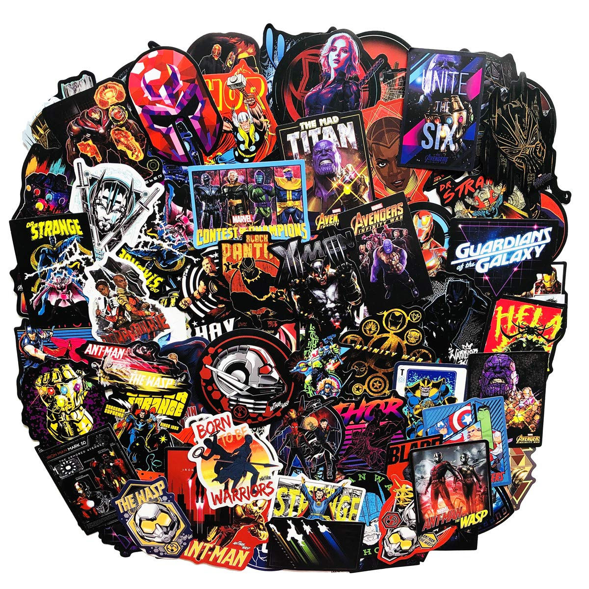Stickers Calcos 108 un. Superheroes Origen U.S.A. (7KWVRKS8)