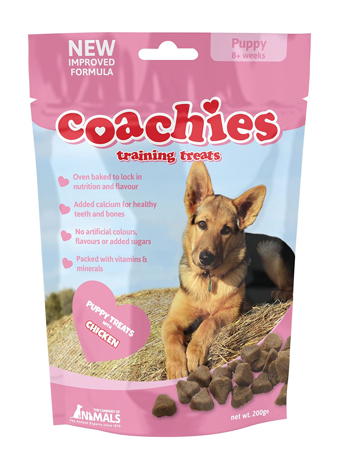 Company of Animals Coachies Friandises pour Chiot Sachet de 200 g TCPP