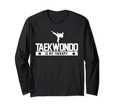 Unisex Taekwondo Is My Therapy Mixed Martial Arts Gift T-Shirts Small Black