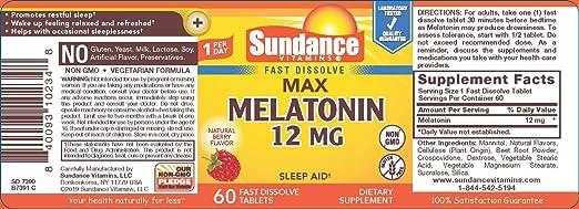 Amazon.com: Sundance 12 Mg Melatonin Tablets, 60 Count: Health & Personal Care