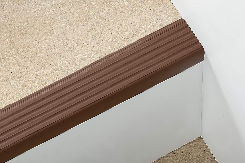 bande de bordure descalier-protection Laiton Nez de marche profil d/'angle PVC autoadh/ésif 50x40mm antid/érapant 110cm