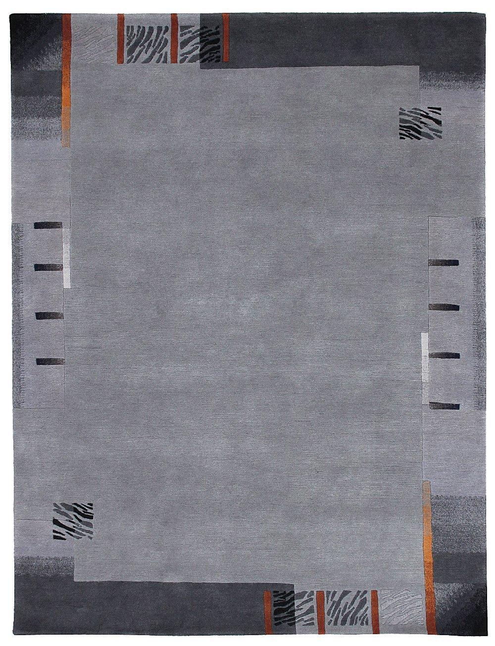 TEPPICHWELT SONA-LUX Nepal Teppich handgeknüpft platin