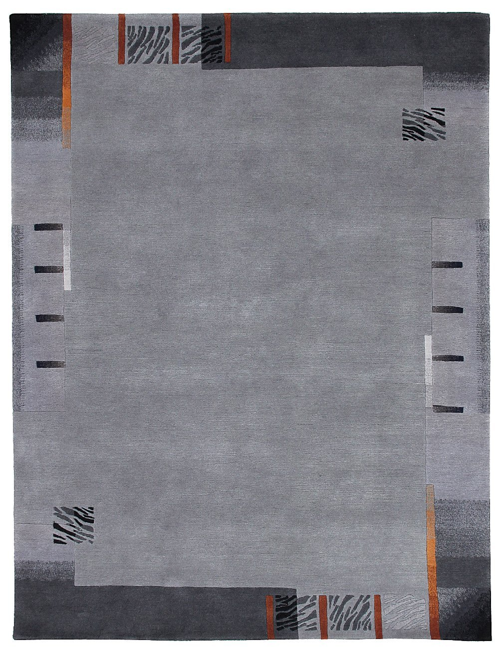 Sona-Lux Nepal Teppich handgeknüpft platin